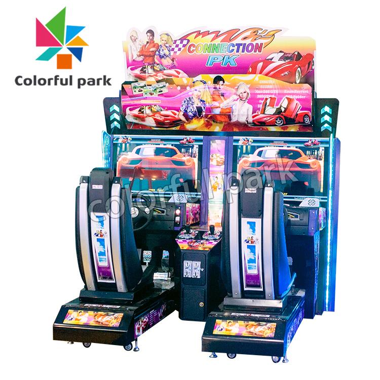 Colorful Park HD Simulator Mini Car Driving Arcade Game Racing Machine for 2 Players