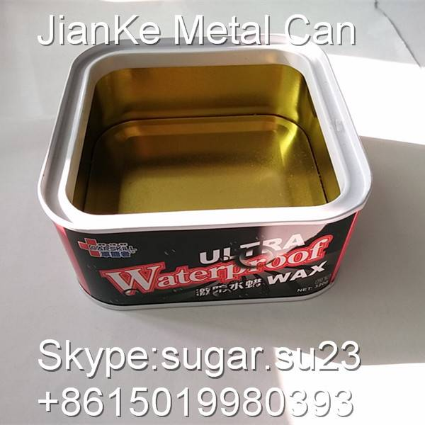 Tinplate metal cans for car wax