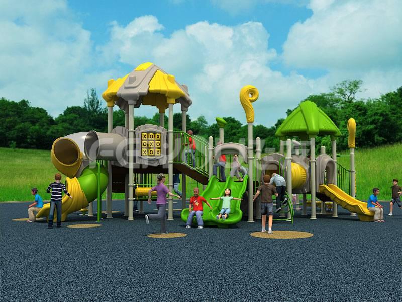China kindergarten playground equipment plastic slide