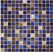 Decorated wall glass mosaic tile