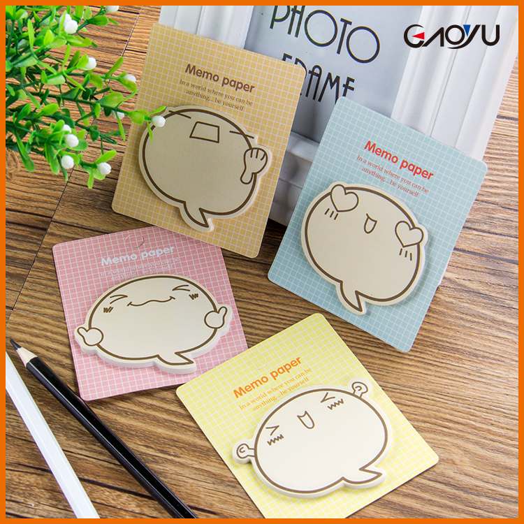 Promotional Customized Convenient Round OEM Lovely paper memo cute sticky notes