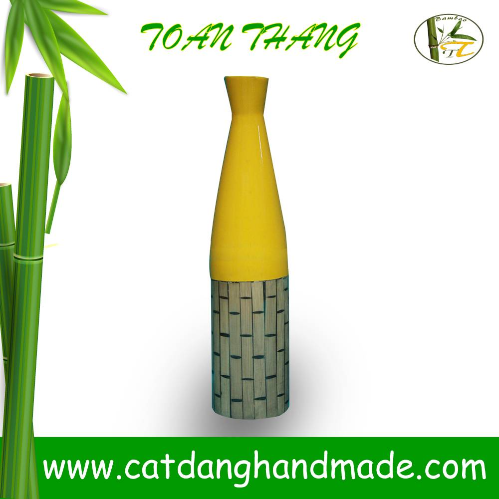 Fashionable bamboo vase for decoration, modern bamboo vase with new design 2015(Skype: jendamy, what