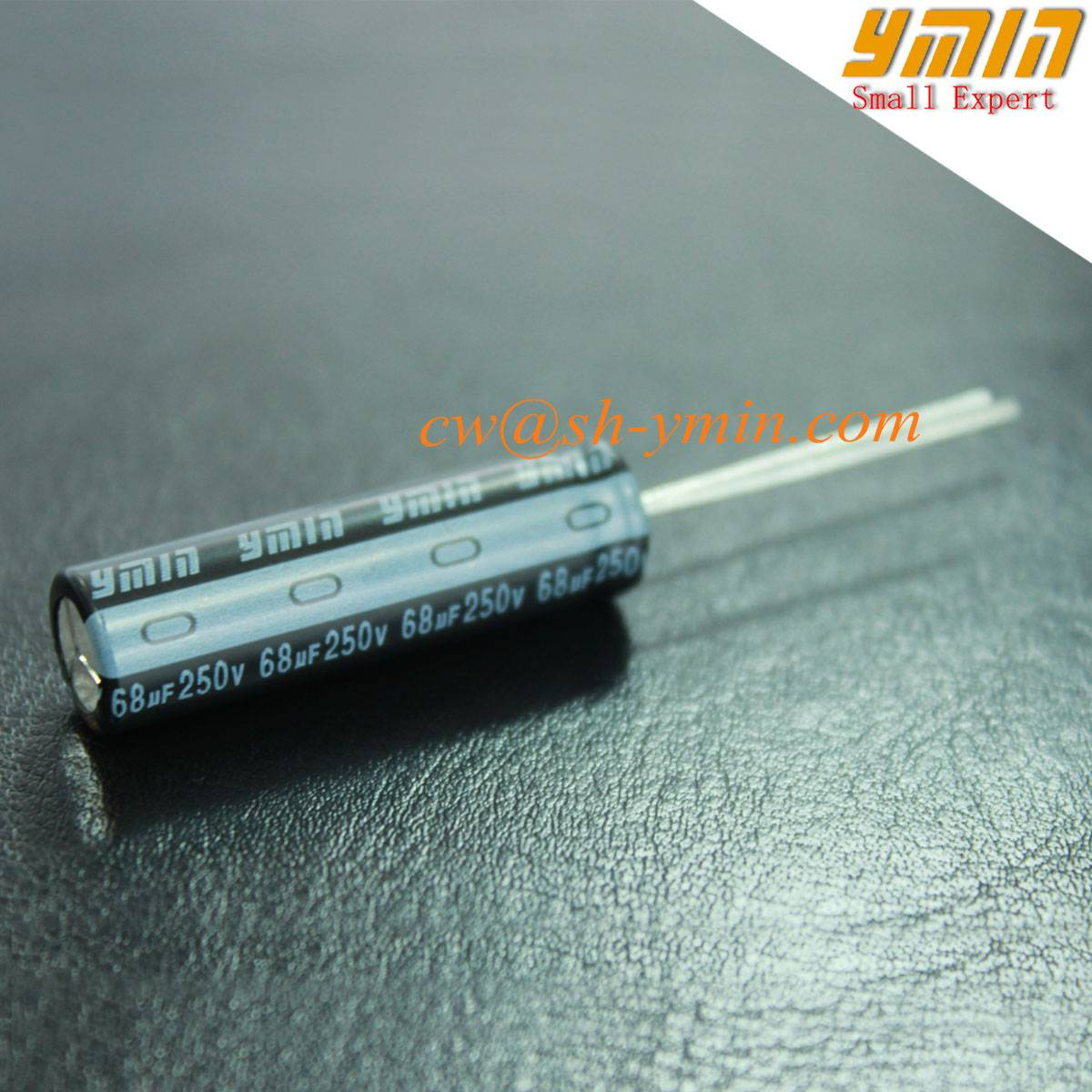 6000 Hours 250V 68uF Capacitor Radial Aluminum Electrolytic Capacitor for LED Lighting and General P