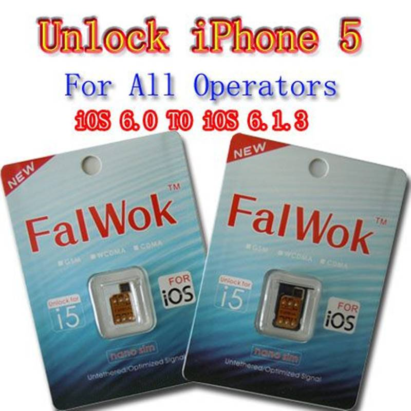 FALWOK CS All Carrier (For iPhone 5S/5C/5)FALWOK Ultra S for GSM iPhone 5 iOS 6.0 to 6.1.4