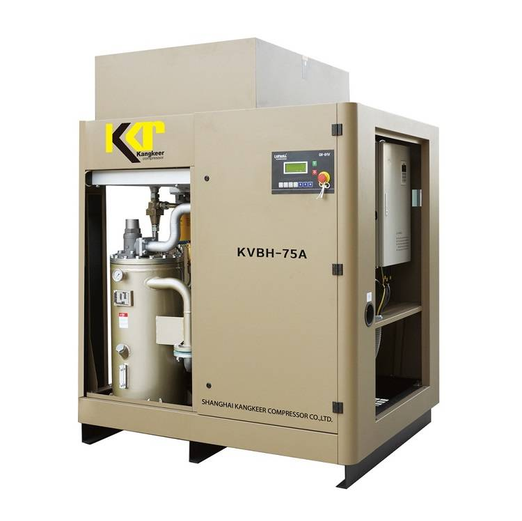 Belt driven VSD rotary screw air compressor