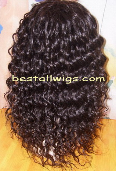 Deep wave human hair full lace wig