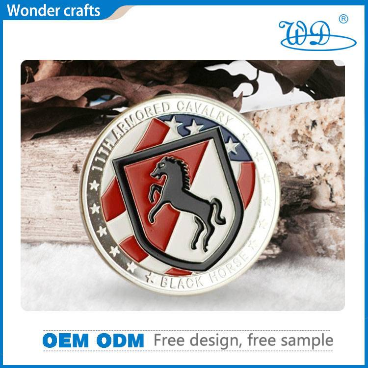 Anniversary gift soft enamel custom die cast copper material pure silver plating metal souvenir coin