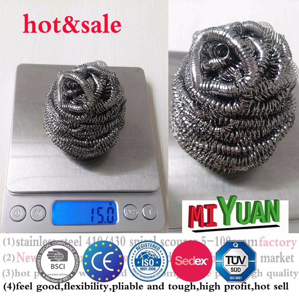 China factory hot sale stainless steel scourer