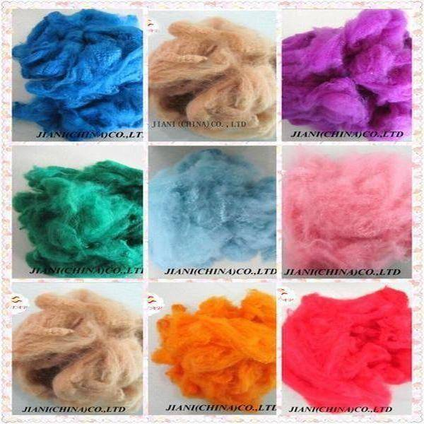 Dyed recycled polyester staple fiber(PSF)colored,virgin,regenerated