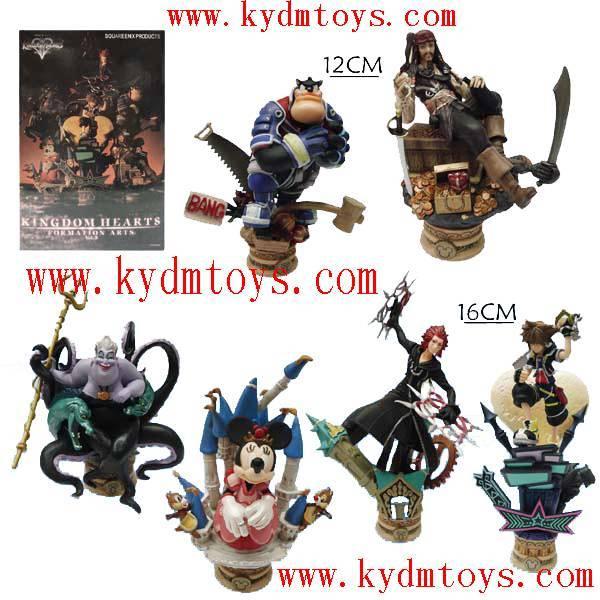 MOQ(USD300) 12-16cm scene of Kingdom Hearts statue figure (set) ky1059