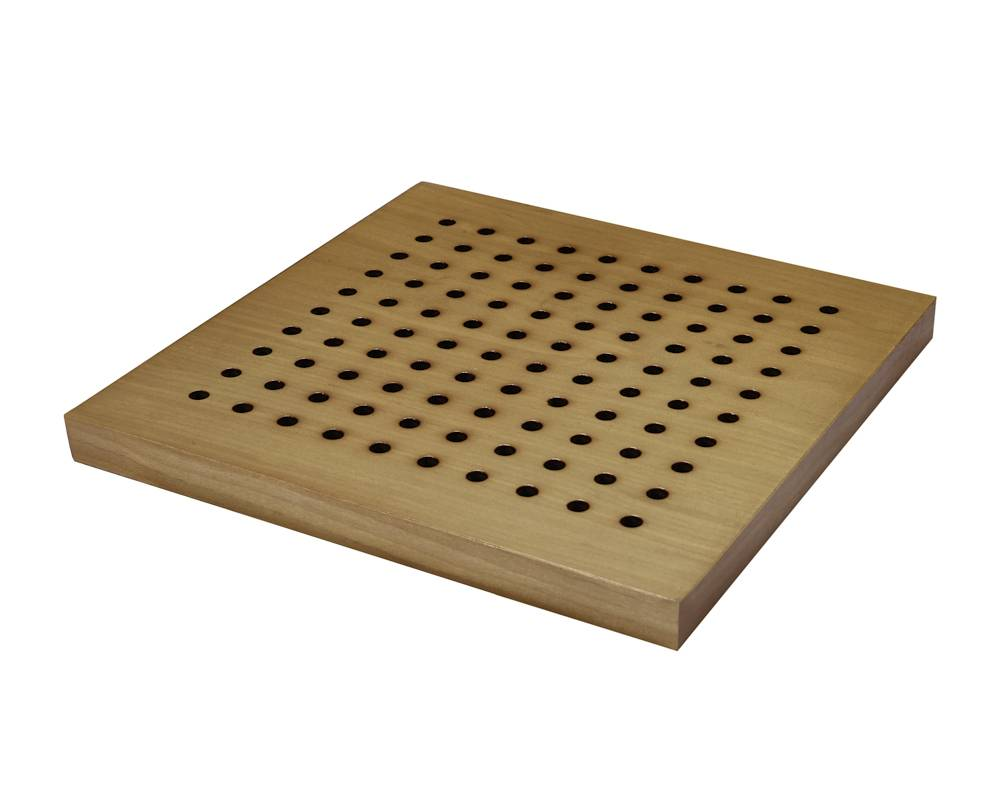 wooden perforated acoustic panels