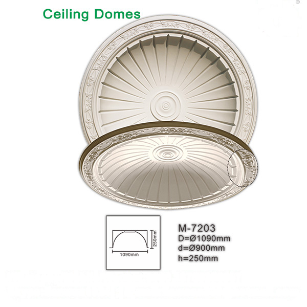 Polyurethane light weight colorful ceiling domes finishing material