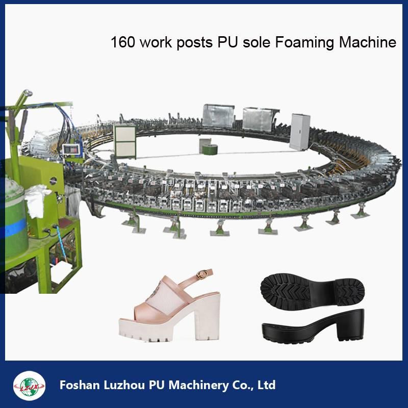 160 Work Stations Shoe Sole PU Foam Machine