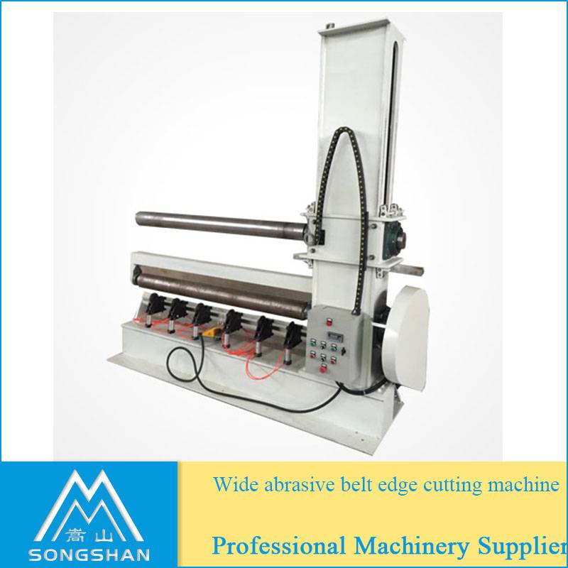 Wide sanding belt cutting machine