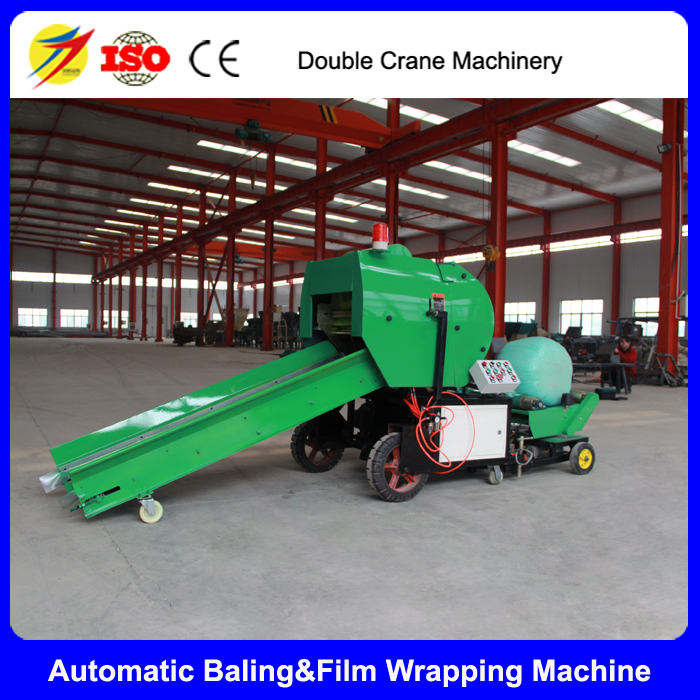 Full automatic round silage baling machine for sale