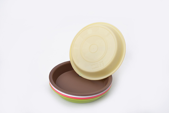 plastic colorful flower pot saucer thicken