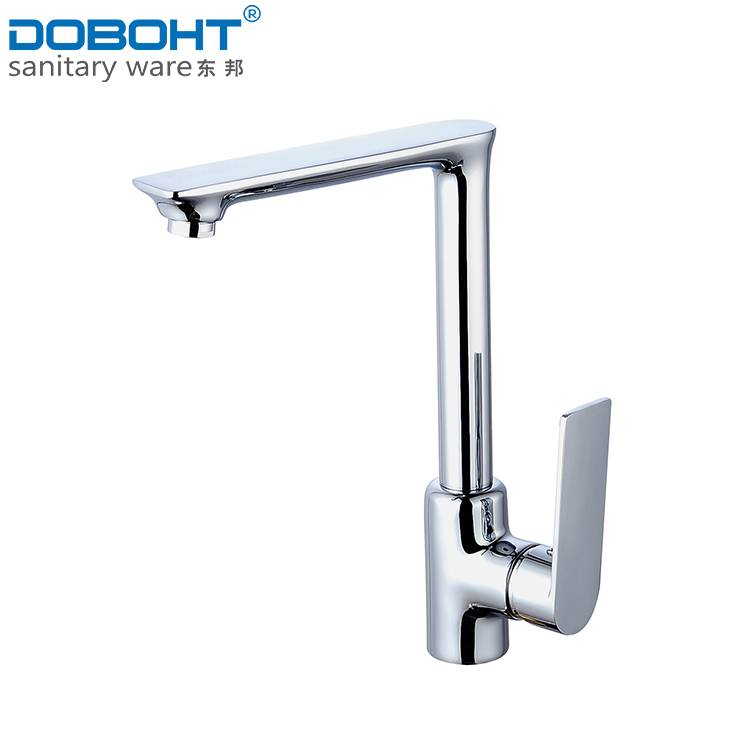 hot and cold brass single handle chrome kitchen faucet mixer