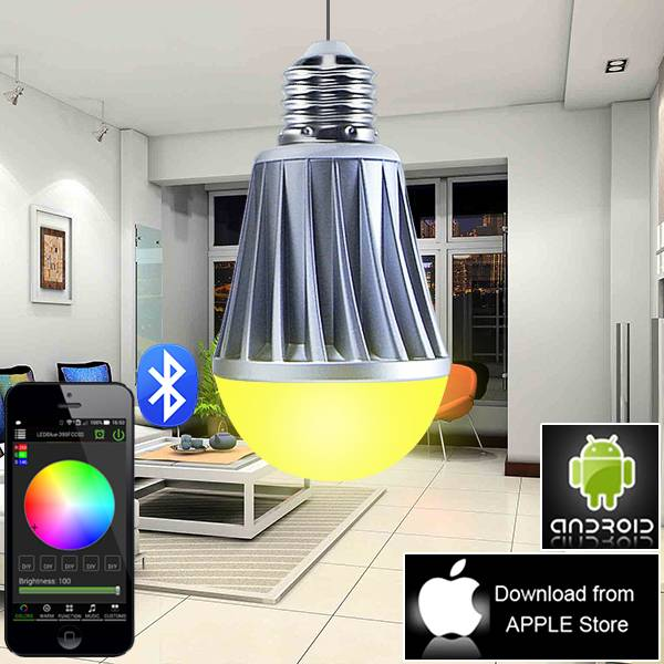 bluetooth rechargeable led magic bulb with remote control wireless led