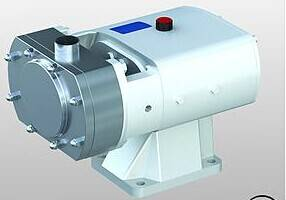 Stainless steel sanitary lobe pump with heat jacket