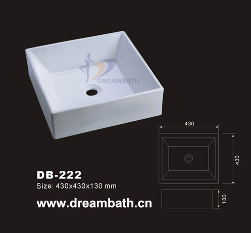 Square vessel sink
