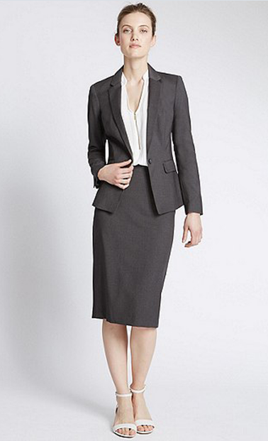 Women One Button Office/Business Uniform Suit
