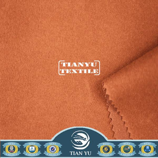 Peach Finished Brushed Cotton Khaki Fabric for Casual Wear / Pants