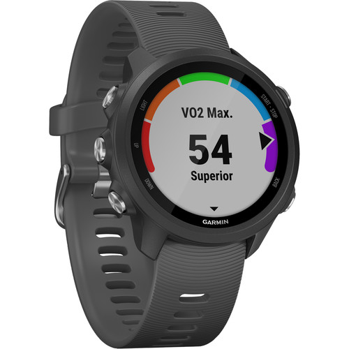 Garmin Forerunner 245 GPS Running Watch (Black Slate, 010-02120-44)