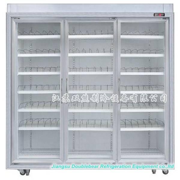 Three door upright luxurious display refrigerator,Convenience Stores display refrigerator