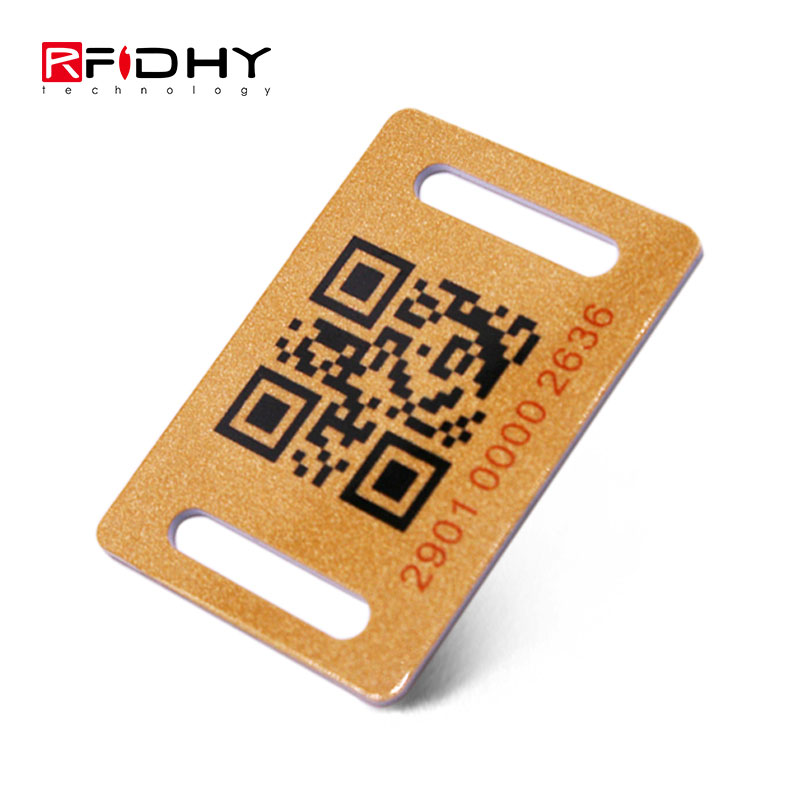 Factory Price Writable RFID PVC Key Tag with QR Code
