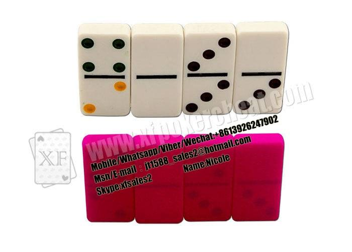 White Marked Dominoes For UV Contact Lenses,Dominoes Games Gambling