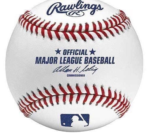 professional baseball Rawlings baseball