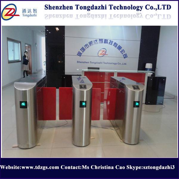 Security waist height sliding turnstile with access control system