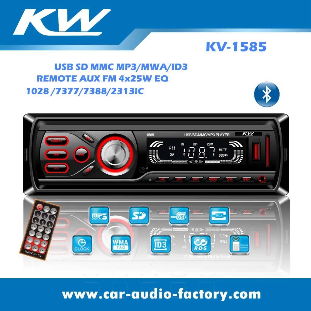 KV1585 Car audio MP3 player Max power output 2x15W