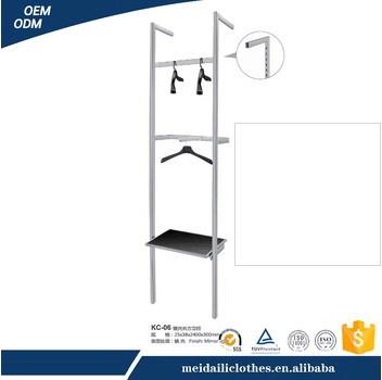 Steel material flooring display clothes hanging rack
