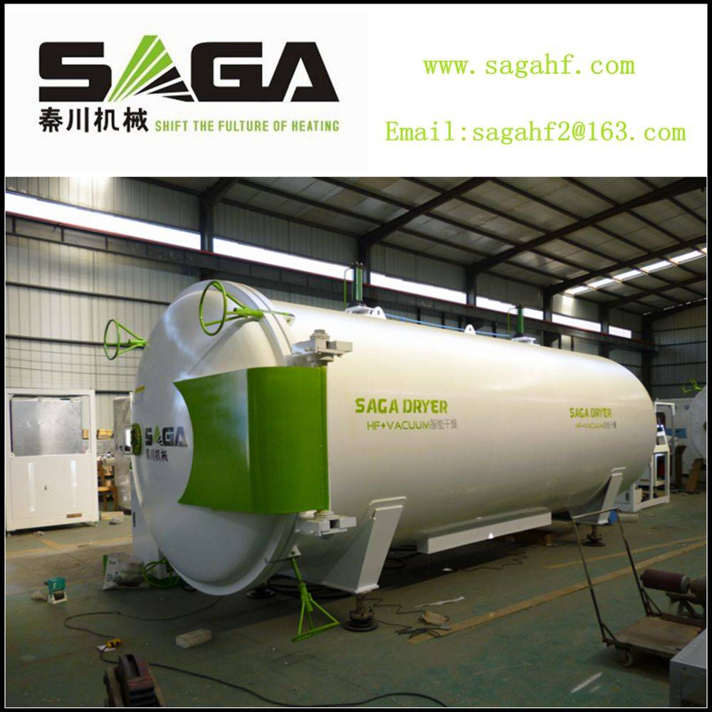 HF and vacuum wood dryer from SAGA