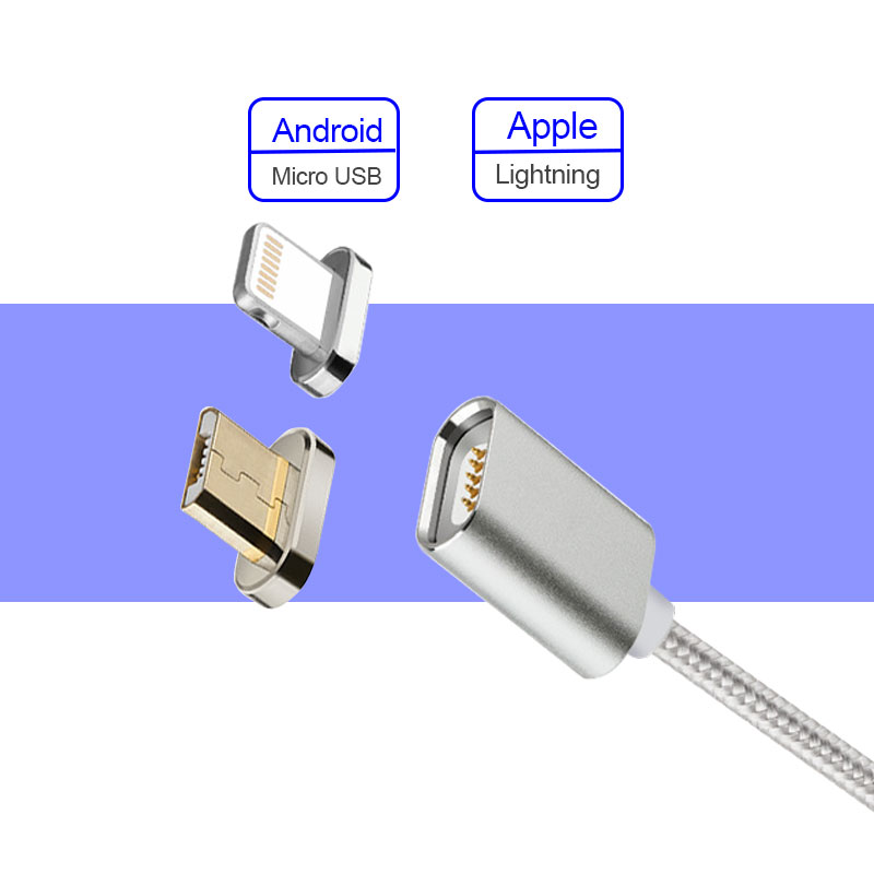 Wholesale android magnet cable nylon magnetic cable micro usb for mobile phone