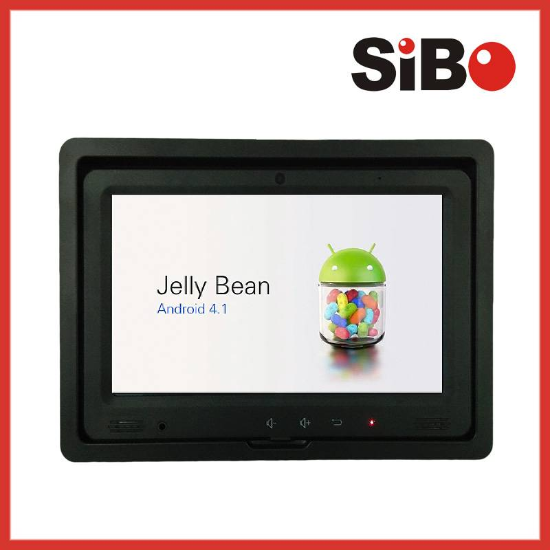 Android Bus Headrest LCD Monitor 24V with Wifi,3G and RJ45