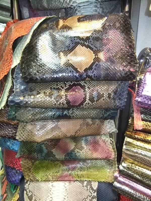 python skin leather for handbags