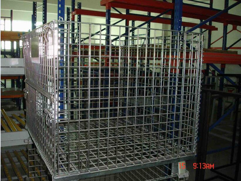 Galvanized Stackable Metal Storage Wire Mesh Pallet Cage