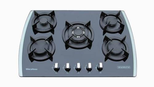 Top  glass  gas  built-in hobs