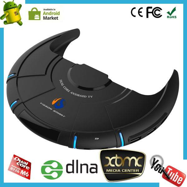 Amlogic 8726 M6 cortex a9 dual core android tv box support dlna miracast skype XBMC 1080P playback