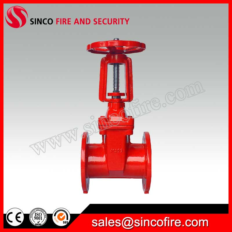 OS&Y rising stem gate valve for fire fighting