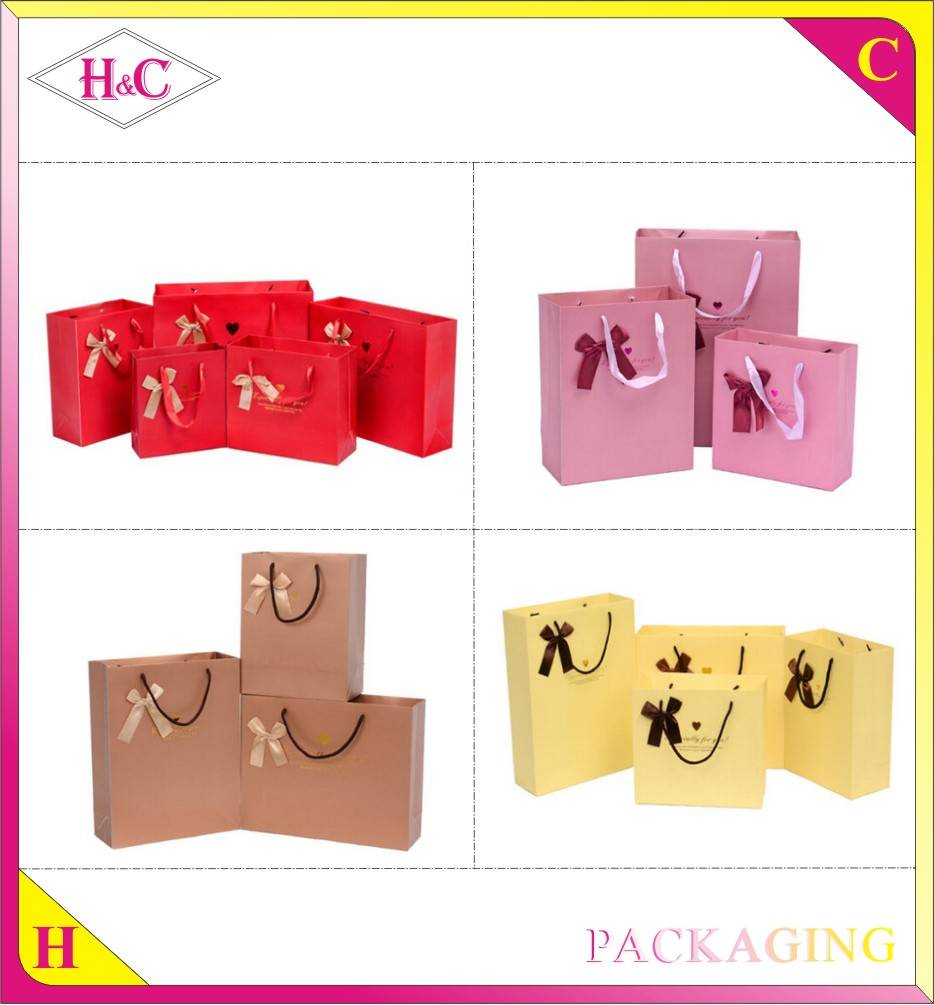 Custom Luxury Fashion Handmade Color Advertising Promotional Shopping Bag