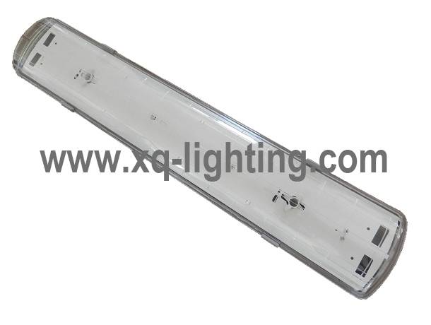 IP65 t8 2tubes tri-proof led fluorescent light fixture plastic cover