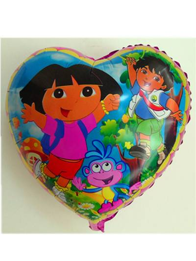heart shaped daro foil balloon