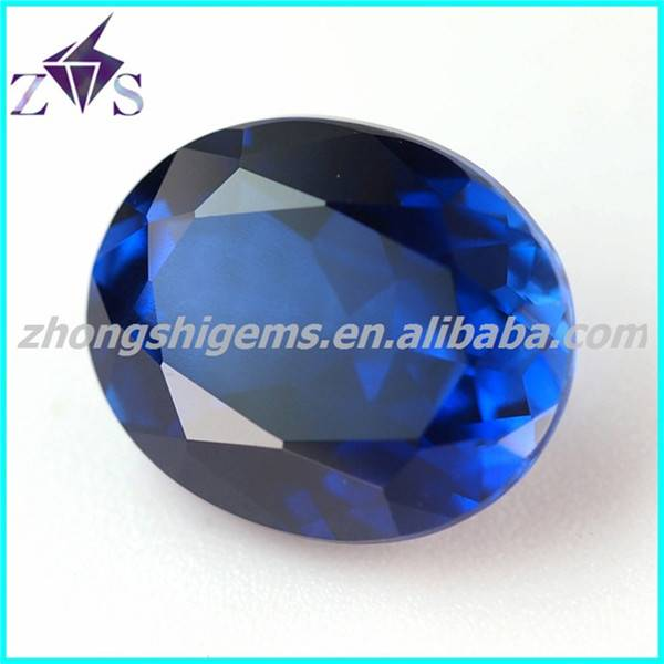 Oval Cut  Sapphire synthetic gemstone