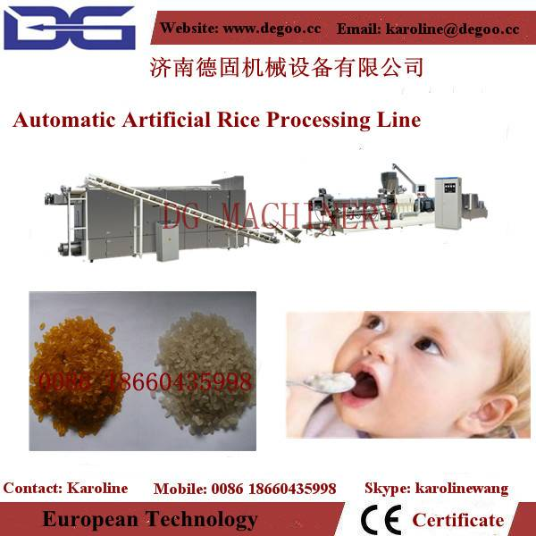 automatic reconstitute artificial rice machinery production line