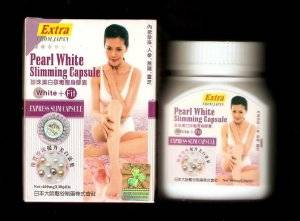 Extra Pearl Whitening Detoxifying Capsule Express Slim Capsule From Japan WHITE + FIT