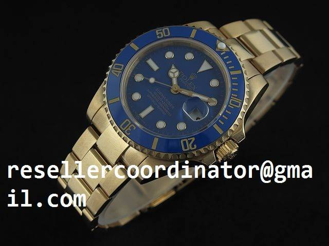 efc88e6c3b8 Rolex Submariner Automatic Full Gold with Light Blue Dial-2008 New Version  Watch