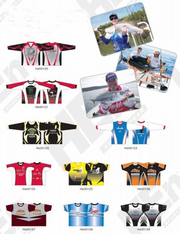 custom sublimation fishing shirts
